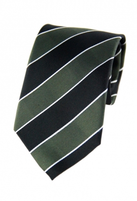 Angelo Green Striped Tie