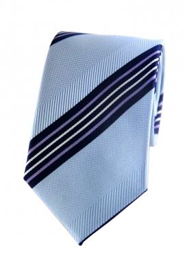 Cooper Light Blue Striped Tie