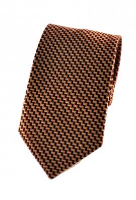 Emery Orange Patterned Tie