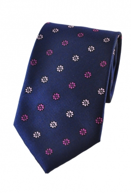 Leon Blue Floral Tie