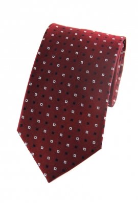 Marcus Red Patterned Tie