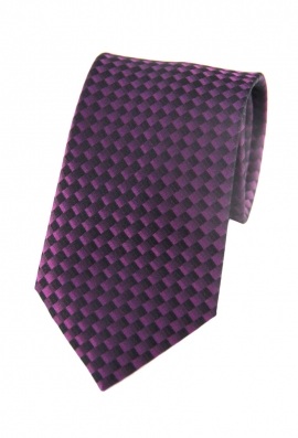 Parker Purple Checked Tie
