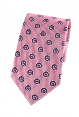 Skyler Pink Swirl Print Tie