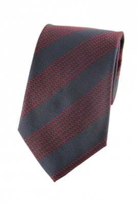 Trey Red Striped Tie
