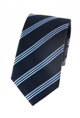 Adam Black & Blue Striped Tie