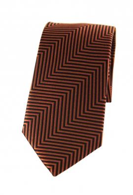 Benjamin Orange Striped Tie