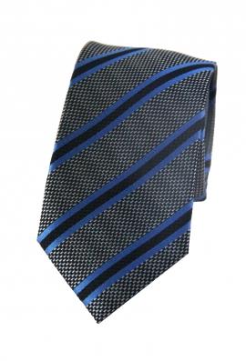 Connor Black & Blue Striped Tie