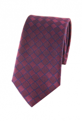Joshua Burgundy Checked Tie