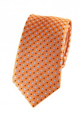 Justin Orange Floral Tie