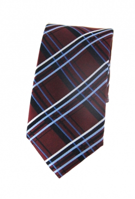 Mason Red & Blue Checked Tie