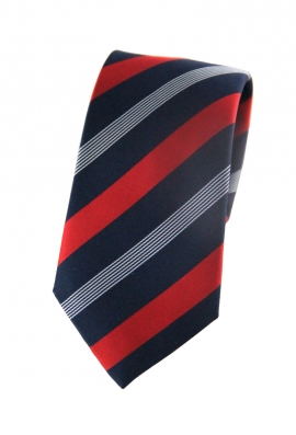 Nathan Red & Navy Striped Tie