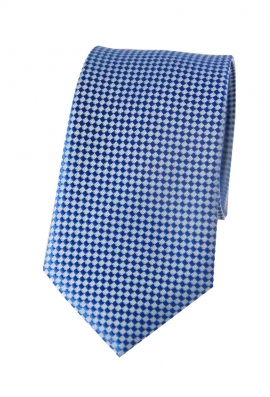 Thomas Blue Checked Tie