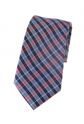 William Blue Checkered Tie