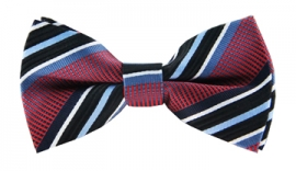 Alvin Red Striped Bow Tie