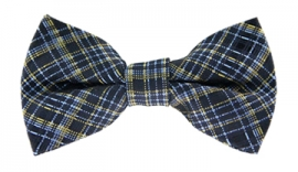 Antoine Blue Checkered Bow Tie