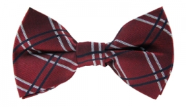 Boston Red Checkered Bow Tie
