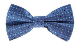 Channing Blue Polkadot Bow Tie