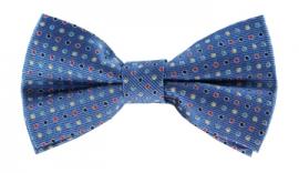 Channing Blue Polkadot Bow Tie
