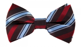 Kristian Red Striped Bow Tie