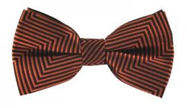 Tobias Orange Striped Bow Tie