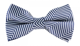 Tobias White Striped Bow Tie