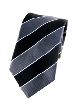 Angelo Grey Striped Tie