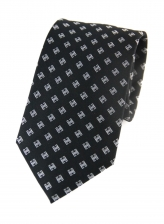 Dominic Black Patterned Tie