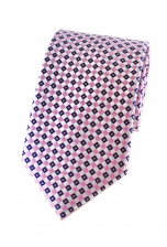 Drew Pink Checked Tie