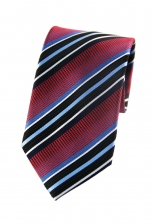Eli Red Striped Tie