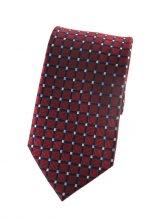 Henry Red Checked Tie
