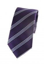 Adam Purple Striped Tie