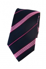 Andrew Pink Striped Tie