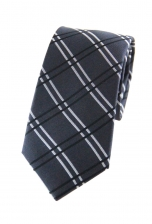 Austin Grey Checkered Tie