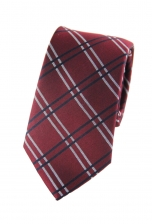 Austin Red Checkered Tie
