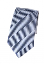 Benjamin Blue & White Striped Tie TMB115-3