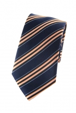 Brandon Orange Striped Tie