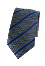 Connor Black & Blue Striped Tie