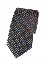 Elijah Blue & Orange Spotty Tie