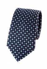 Justin Navy Floral Tie TMB121-10