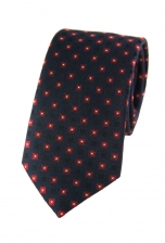 Lucas Blue & Red Square Print Tie