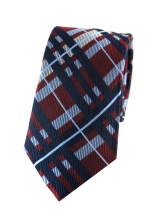 Luke Navy Checkered Tie