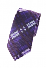 Luke Purple Checkered Tie