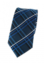 Mason Blue Checked Tie
