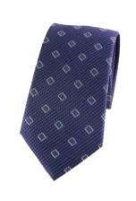 Samuel Blue Grey Print Tie