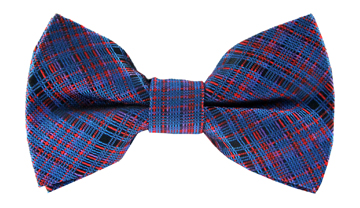 Antoine Red Checkered Bow Tie