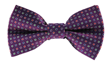 Channing Purple Polkadot Bow Tie