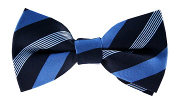 Nash Blue Striped Bow Tie
