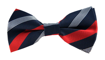 Nash Red Striped Bow Tie