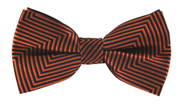 Tobias Orange Striped Bow Tie