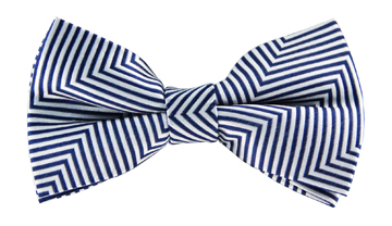 Tobias White Striped Bow Tie TMB115-3BT